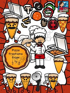 Pizza Fractions Clipart Bundle from tongassteacher on TeachersNotebook.com - (82 pages) - This 82 piece pizza clipart bundle features a huge variety of pizza and pizza fraction graphics!