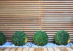 contemporary garden fence - Google Search