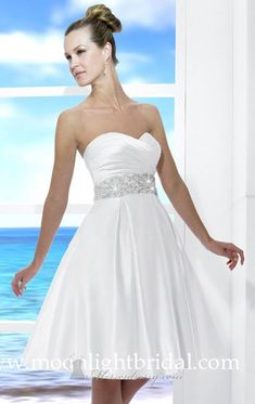 23 Beautiful Short Wedding Dresses - satin and sparkles are the way to go!