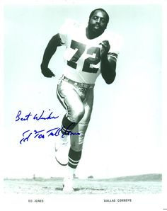 Ed Too Tall Jones, Dallas Cowboys, Autographed 8x10 Photo