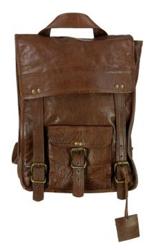 "<p>2-in-1 convertible 14"" vintage leather vertical backpack bag - tommy<br />outer: made from 100% genuine buffalo skin leather <br />vertical backpack design <br />1 front flap buckle pocket <br />3 internal sectioned compartments <br />2 internal zipper pockets <br />can either be a backpack or shoulder bag! <br /><br />lightweight, durable leather, tanned without the use of chemicals <br />vintage leather wash</p>"