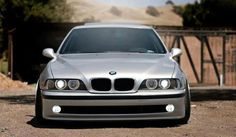 BMW E39 M5 grey stance