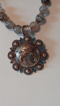 Cowgirl Pistol Concho Necklace by RodeoMomKat on Etsy, $55.00