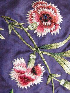 RAREST 18th Century Needlework Muff, French Silk Embroidery & Silk Portrait Medallion