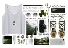 """""""Untitled #330"""" by xxsaraxx2012 ❤ liked on Polyvore featuring Monki, Nikon, Trish McEvoy, Vincent Longo, Relic, Converse, Lucky Brand, SUQQU, Dirty Pretty Things and Origins"""