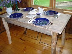 """Driftwood Dining Room Table (50"""" x 27"""" x 29""""H). $309.00, via Etsy."""