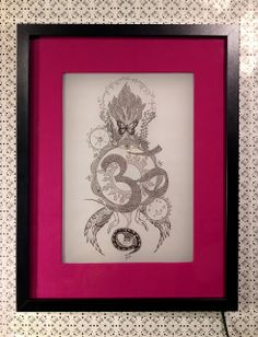 light frame with Om mandala drawing by http://marysmerryland.blogspot.gr