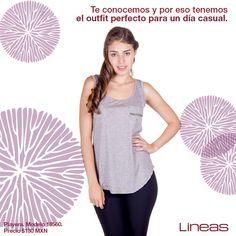 Outfit casual. #Lineas #outfit #moda #tendencias #2014 #ropa #prendas #estilo #primavera #outfit #playera #casual