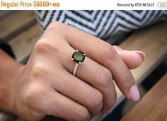 Black Friday Sale black onyx ringsilver by AnemoneUnique on Etsy
