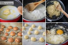 Mini buñuelos de queso gruyer. Receta