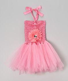 Love this Pink Flower Tutu Dress - Infant on #zulily! #zulilyfinds