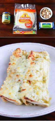 4-Ingredient Salsa Verde Chicken Enchiladas | 24 Easy Meals You Can Make With Rotisserie Chicken