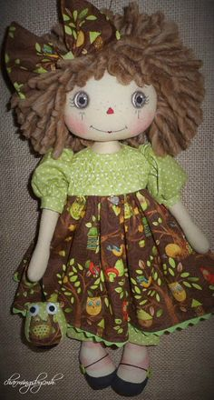 Lime  Owl Annie ~ charmingsbycmh