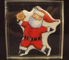Dancing Santa XI1006 Christmas Claus 2000 Acrylic Block Mounted Rubber Stamp