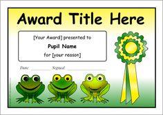 editable award certificate template | Classroom ideas | Pinterest ...