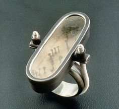Ring with nails and spiral shank by Virginia's Susie Ganch. I love the weirdness of this! ☀CQ K◎◎L BeanZ!