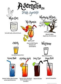 9 Harry Potter drinks just waiting to be drunk.