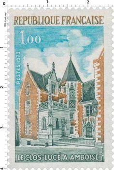 Timbre de 1973 Le Clos Lucé à Amoise