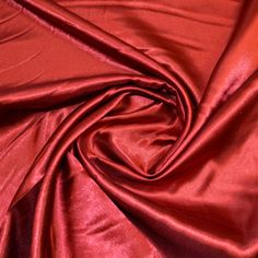Red Economy Satin 150cm Wide 100 Polyester Approx 97gsm Made In EEC Machine Washable At 40oc GBP299 Per Metre If You Are Looking For A Stunning