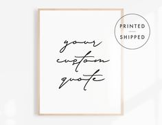 Custom Quote Print, Typography Wall Art, Living Room Decor, Handwriting Print, Black and White Poster, Modern Wall Art, Minimalist Decor Love Signs, Bar Signs, Minimalist Poster, Minimalist Decor, Quote Prints, Wall Art Prints, Living Room Decor Etsy, Black And White Posters, Mottos