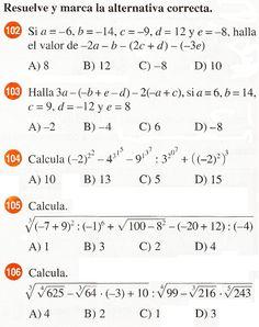 Números Enteros Curso De Razonamiento Numérico Algebraic Expressions Math Expressions