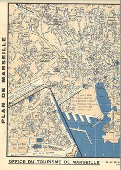 Marseille, plan de 1938. Les quartiers détruits. Plan Ville, Ville France, Belle Photo, Techno, City Photo, Places To Go, How To Plan, Stencils, Poster