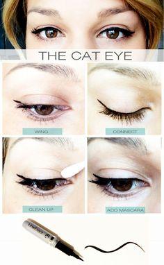 the cat eye http://www.covergirl.com/eye-makeup/eyeliner/line-exact-liquid-eyeliner