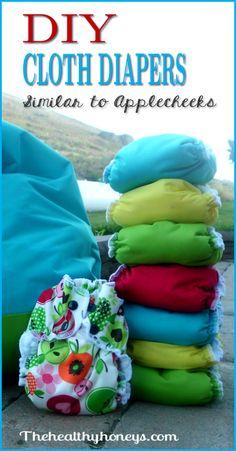 DIY cloth diaper tutorial: similar to applecheeks. - The Healthy Honeys
