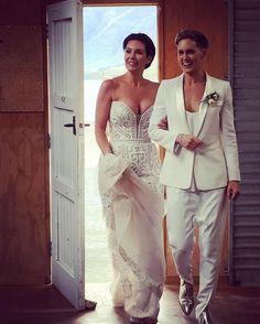 Beautiful same sex wedding couple