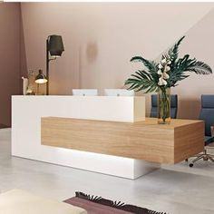 Reception Counter Design, Modern Reception Desk, Spa Reception Area, Salon Reception Desk, Dental Office Design, Modern Office Design, Spa Interior Design, Design Interiors, Medical Office Interior