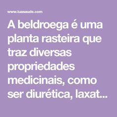 A beldroega é uma planta rasteira que traz diversas propriedades medicinais, como ser diurética, laxativa e anti-inflamatória. Ela pode ser usada em sucos, saladas, chás Juices, Salads, Health Benefits, Recipes