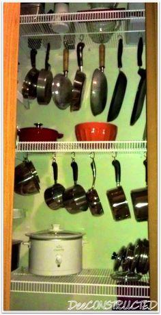 O Lado de Cá: Organização armários da cozinha Paneleiro