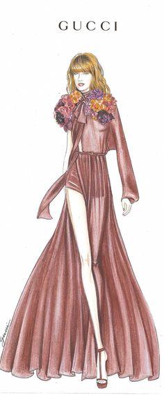 Gucci Illustration- Singer Florence Welch