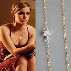 Petit collier étoile argent Sterling et rempli mixte métal