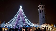 Christmas lights in Vilnius. The tree is surrounded by multiple small shops that sell food souveniers etc. Christmas Lights, Christmas Decorations, Xmas, Christmas Tree, Small Shops, Lithuania, Europe, Building, Instagram Posts
