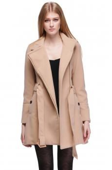 Hot Women's Fashion Wool Winter Noble Long Trench Outwear Coat With Belt 3 Color
