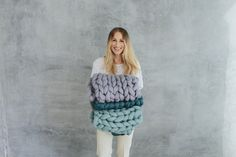Chunky blankets from www.woollie.se Photo: Smallpigart