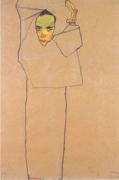 Egon Schiele - Autorretrato.