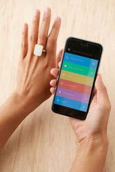 Ringly Rainbow Moonstone Smart Ring - Urban Outfitters