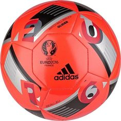 The adidas Euro 2016 Glider Soccer Ball in solar red with black and iron metallic is the official replica ball of the Euro 2016, teams playing for the honor to be the best team in Europe. The adidas G