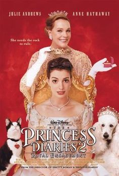 Directed by Garry Marshall.  With Anne Hathaway, Callum Blue, Julie Andrews, Hector Elizondo. Now settled in Genovia, Princess Mia faces a new revelation: she is being primed for an arranged marriage to an English suitor.