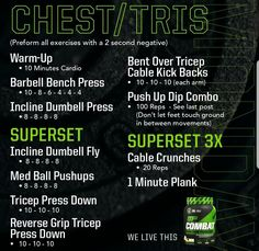 Musclepharm Workouts, Plyo Workouts, Hitt Workout, Gym Workout Tips, Biceps Workout, Chest Workouts, Workout Challenge, Body Workouts, Chest And Tricep Workout