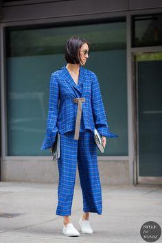 Eva Chen at New York Fashion Week SS 2016 by STYLEDUMONDE