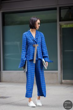 Eva Chen at New York Fashion Week SS 2016 by STYLEDUMONDE
