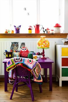 Fun purple for a piece of furniture in Mila's room?