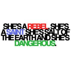 "Green Day lyrics. ""She's a Rebel"" from the American Idiot album, 2004."