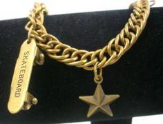 "7"" Skateboard Charm Bracelet"