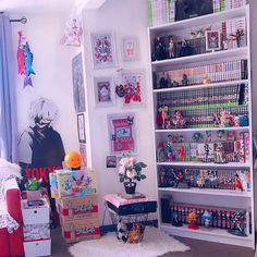 Discover recipes, home ideas, style inspiration and other ideas to try. Cute Room Ideas, Cute Room Decor, Room Design Bedroom, Room Ideas Bedroom, Home Music, Geek Room, Kawaii Bedroom, Game Room Design, Indie Room