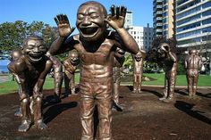 The creepy statues at English Bay!