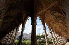 Basilica di Santa Chiara, Kreuzgang, Fisheye, Napoli, Italy Napoli Italy, Amalfi Coast, Naples, Santa